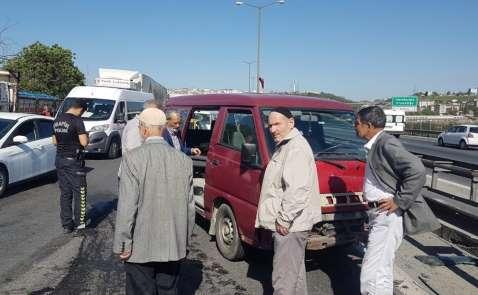 TEM'de zincirleme kaza: 2'si ağır 4 yaralı