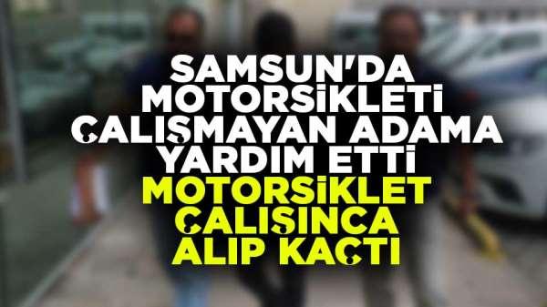 Samsun'da göz göre göre hırsızlık