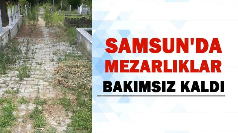Samsun'da mezarlıklar bakımsız kaldı