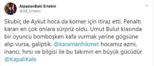 Boydak Holding CEO'su Ertekin'den Hikmet Karaman'a destek