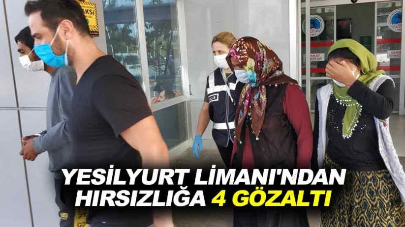 Samsun Yeşilyurt Limanı'ndan hırsızlığa 4 gözaltı