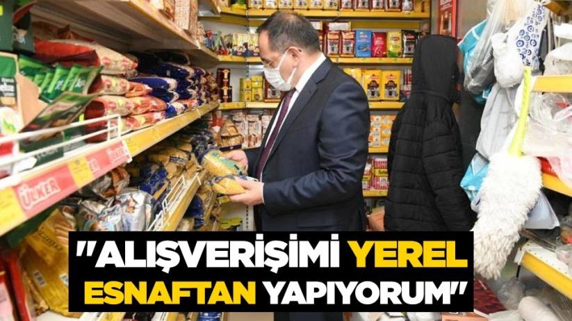 Mustafa Demir: Alışverişimi yerel esnaftan yapıyorum