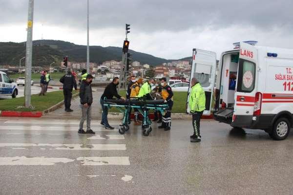 Çanda trafik kazası: 1 yaralı