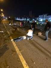 Bulancak'ta kaza, sahil yolu trafiğe kapandı
