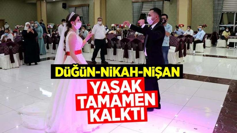Düğün, Nikah, Nişan yasakları tamamen kalktı