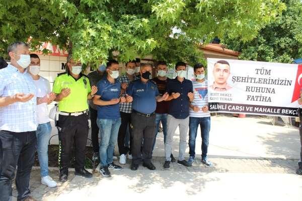 İstanbulda şehit olan bekçi Kansu Turan, Salihlide anıldı