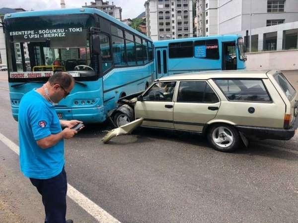 Karabükte iki ayrı trafik kazası: 2 yaralı