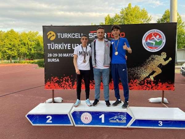 Kayserili atletler Bursadan 5 madalya ile döndü