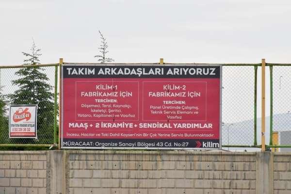 Nursaçan: Kayseri OSBde pek çok fabrika eleman arıyor