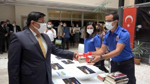Samsunda cezaevi kütüphanesi için ilk kitaplar bağışlandı