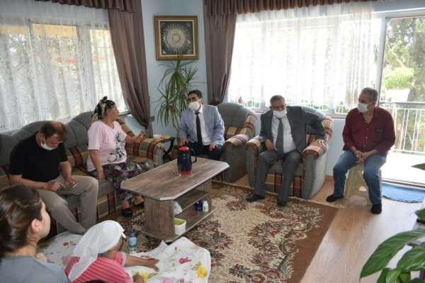 Başkan İnal ve Kaymakam Soley'den şehit ailelerine ziyaret