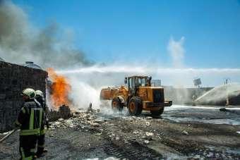 İdlib'de akaryakıt pazarına hava saldırısı