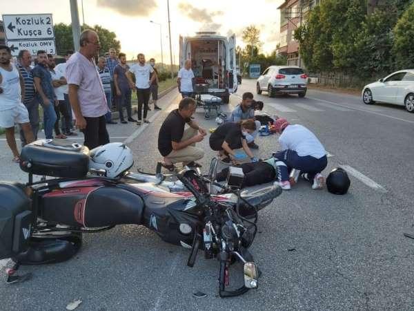 Samsunda motosiklet kazası: 2 yaralı