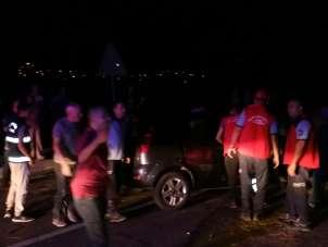 Bigadiç'te trafik kazası, baba ile kızı yaralandı