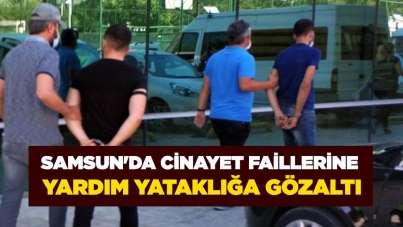 Samsun'da cinayet faillerine yardım yataklığa gözaltı