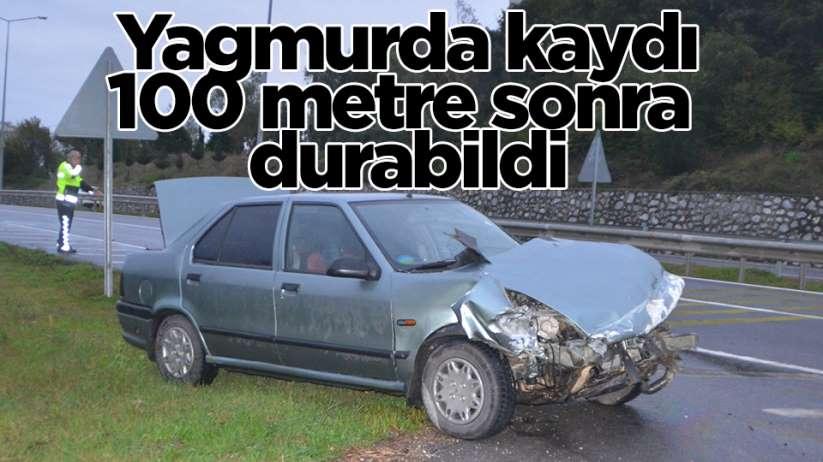 Samsun2da trafik kazası 1 yaralı