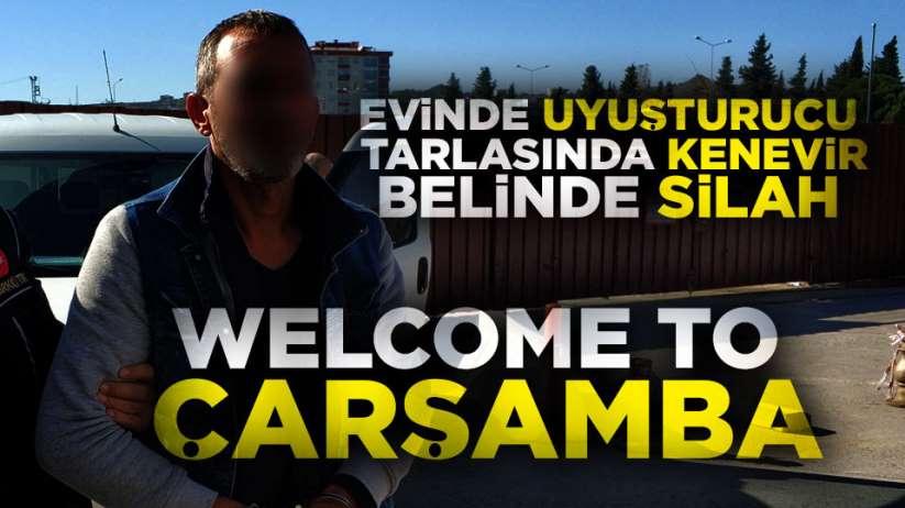 Samsun'da bir kişinin evinde Esrar ve tabanca bulundu