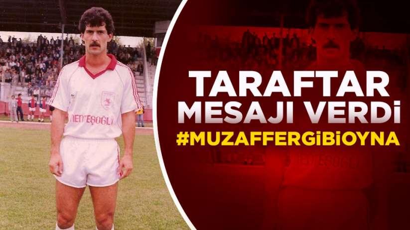 Samsunspor taraftarından anlamlı mesaj #Muzaffergibioyna