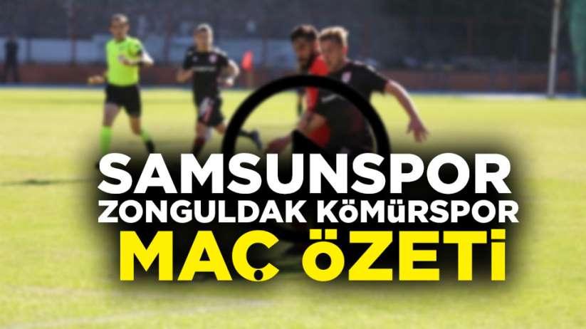 Samsunspor Zonguldak Kömürspor maç özeti