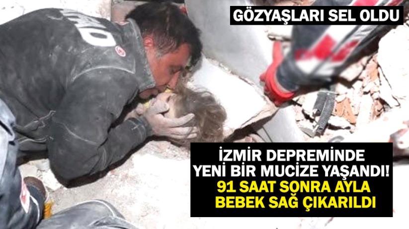 İzmir depreminde yeni bir mucize yaşandı! 91 saat sonra Ayla bebek sağ çıkarıldı