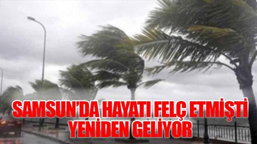 Meteorolojiden Samsun'a uyarı