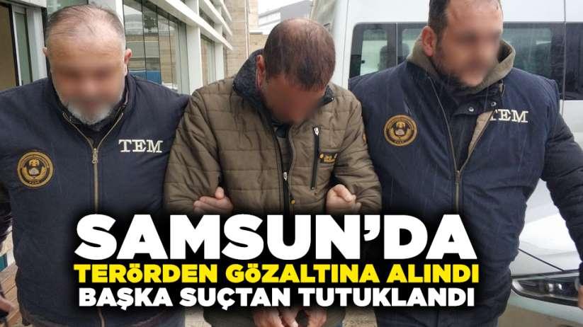 Samsun'da terörden gözaltına alındı, başka suçtan tutuklandı