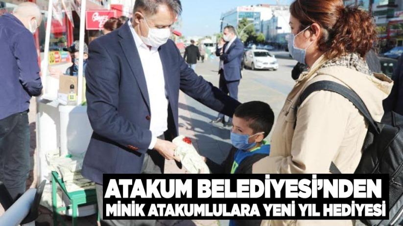 Atakum Belediyesi'nden minik Atakumlulara yeni yıl hediyesi