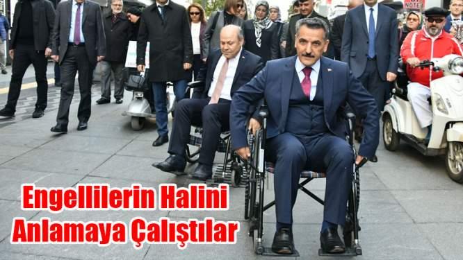 Samsun Valisi Osman Kaymak Engellilerle Empati Yaptı