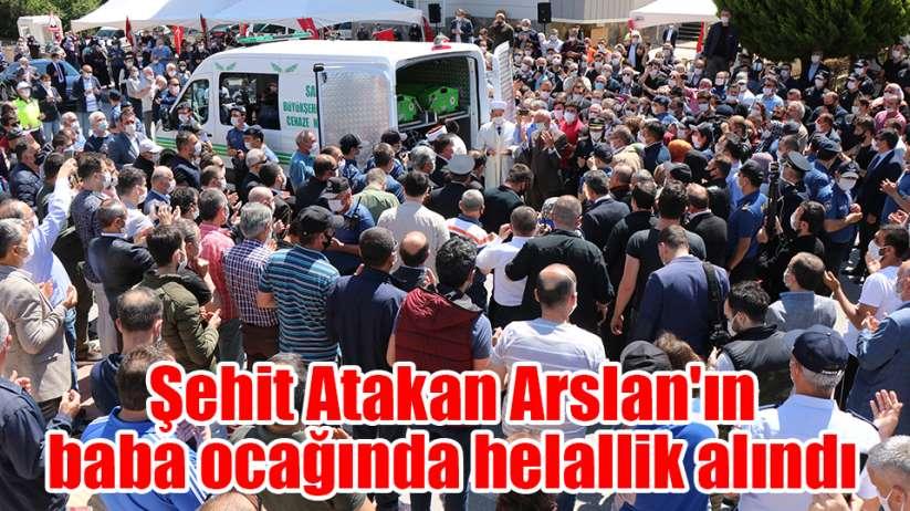 Şehit Atakan Arslan'ın Samsun'daki baba ocağında helallik alındı