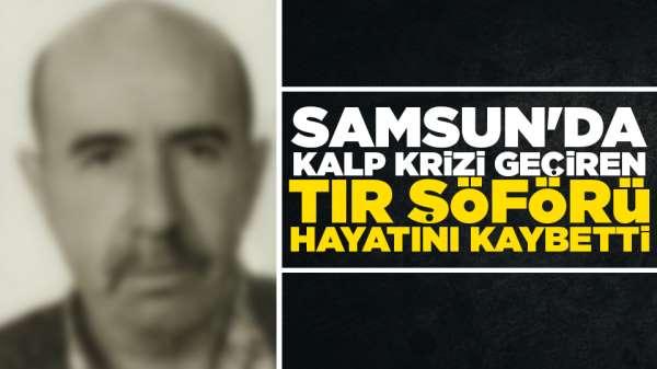Samsun'da tır şoförü yolda hayatını kaybetti