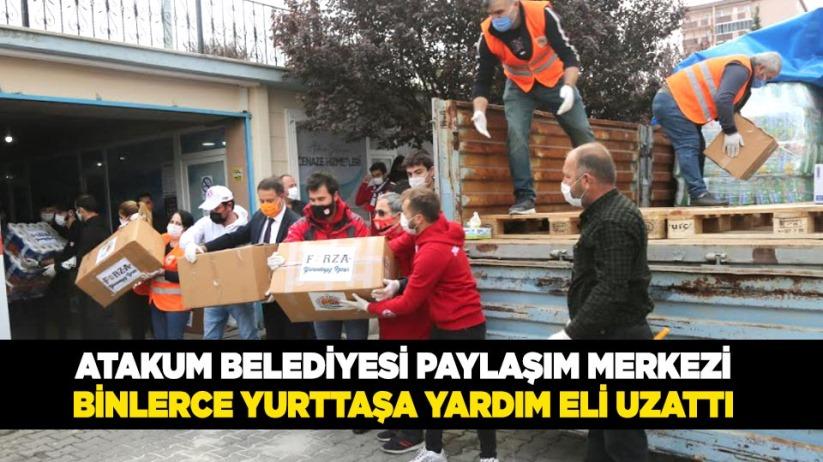 Atakum Belediyesi Paylaşım Merkezi binlerce yurttaşa yardım eli uzattı