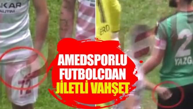 Amedsporlu futbolcu maça jiletle çıktı!