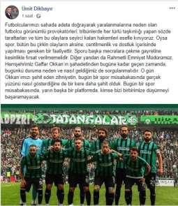 Milletvekili Dikbayır'da Sakaryaspor mesajı