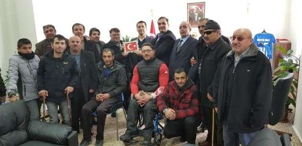Engelliler Meclisinden Erzurumspor'a maddi destek