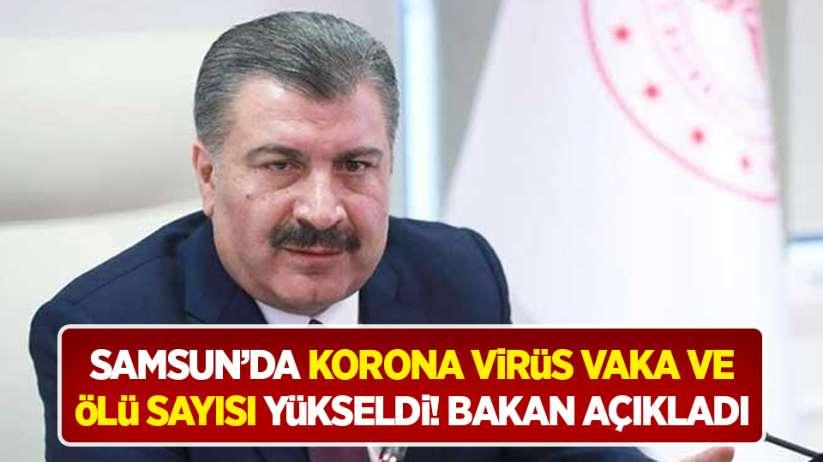Samsun'da korona virüs vaka ve ölü sayısı yükseldi! Bakan açıkladı