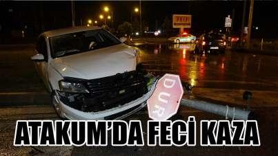 Samsun'da kavşakta iki otomobil çarpıştı