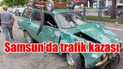 Samsun'da trafik kazası