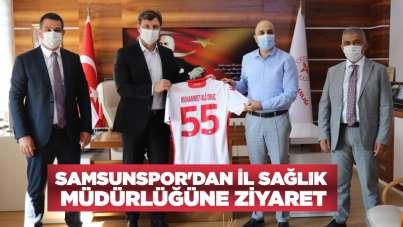 Samsunspor'dan İl Sağlık Müdürlüğüne ziyaret