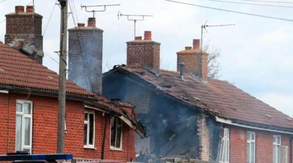 İngilterede korkutan patlama