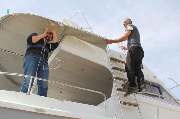 Sinopta kısıtlamayı fırsata çevirip tekneleri bakıma aldılar