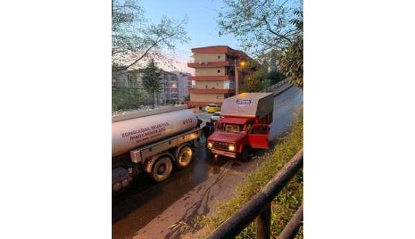 Zonguldakta trafik kazası: 3 yaralı