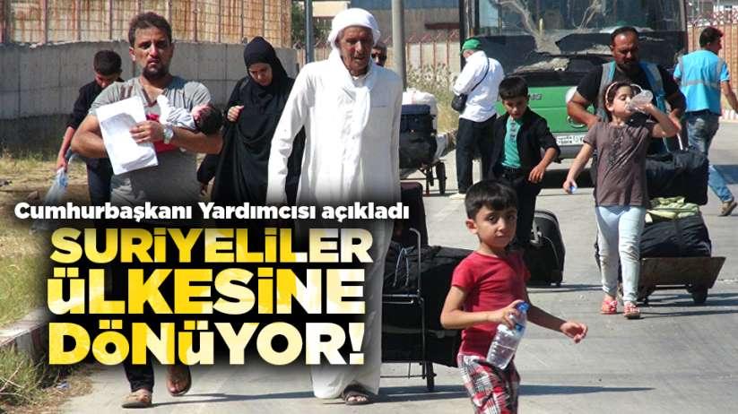Cumhurbaşkanı Yardımcısı açıkladı! Suriyeliler ülkesine dönüyor