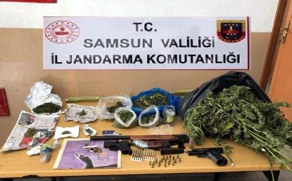 Jandarma'dan uyuşturucu ve silah operasyonu