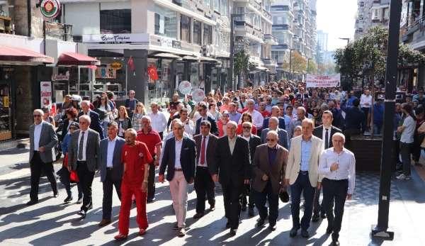 Yüzlerce kişi sağlık ve spor için yürüdü