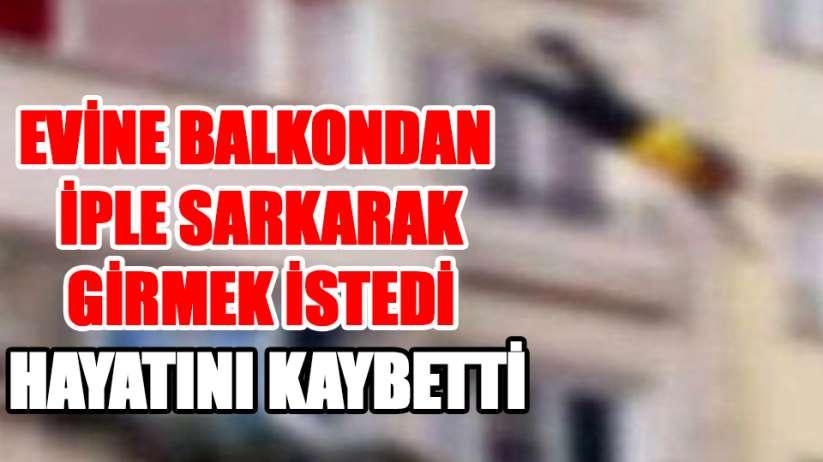 Samsun'da feci olay balkondan düşen adam hayatını kaybetti