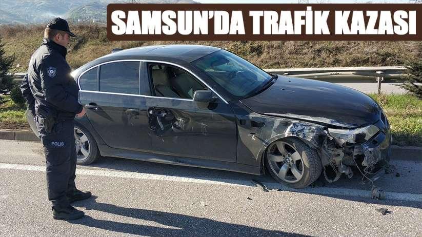 Samsun'da trafik kazası: 1 yaralı