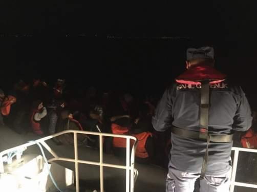 Davutlar'da 41'i çocuk 94 kaçak göçmen yakalandı