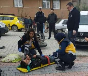 Emet'te motosiklet kazası: 1 yaralı