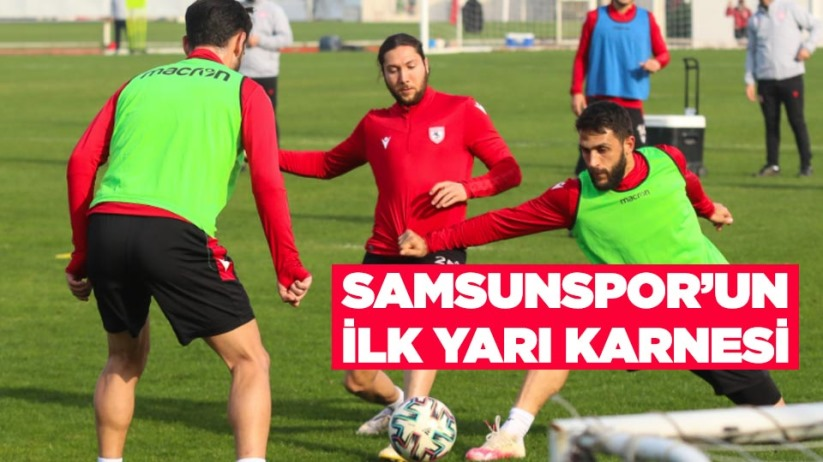 Samsunspor ligin ilk yarısını 33 puan ile kapattı