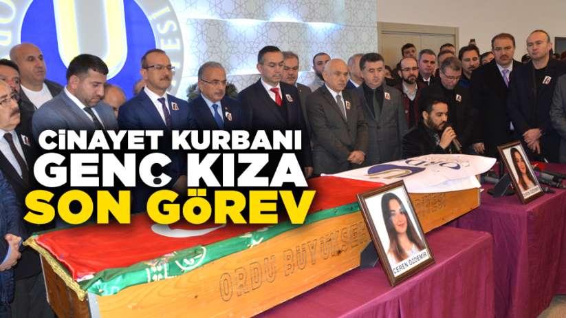 Cinayet kurbanı Ceren Özdemir'e son görev